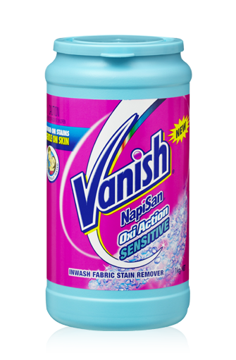 Vanish Napisan Oxi Action Sensitive Powder Removes Stains From Clothes Whilst Being Gentle On Skin Vanish Australia Tough Stain Stain Remover Fabric Stains