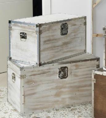 Ba l madera blanco decapado baules pinterest - Muebles para restaurar madrid ...