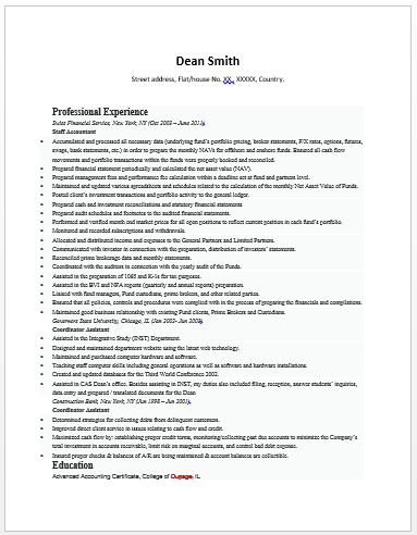 Senior Accountant Resume Sample Resume Template Accountant Resume Accounting Jobs Sample Resume Templates