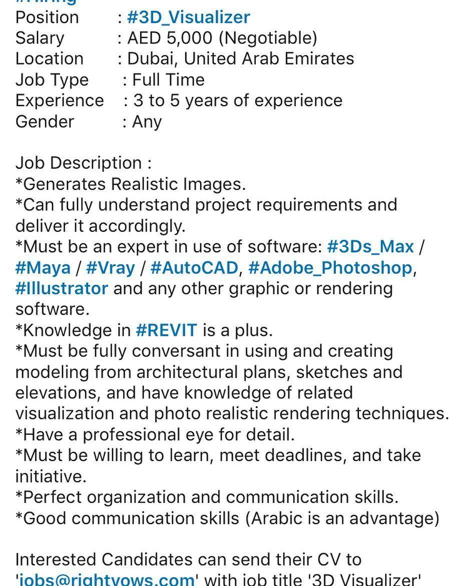 3d Visualizer Job Send Your Cv If You Are Qualified Naijatravellerspro Jobs Dxb Uaejobs Abudhabi Nigeria Lagos Edo Jobshiri Any Job Job Understanding