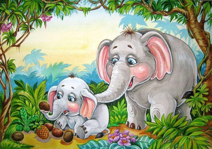Картинка сказочного слоненка