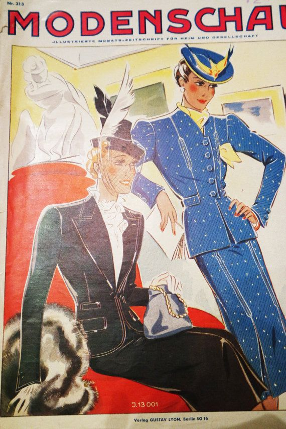 31001 ? №313 vintage clothing pattern 1930s 1940s German by ...