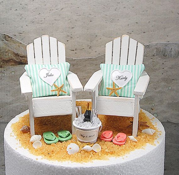 Beach Honeymoon Champagne/Beach Chairs by Memoriesnminiature