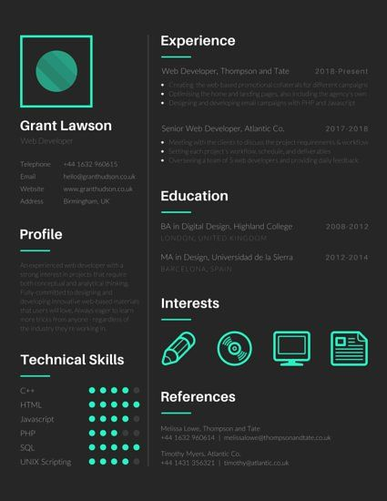 Techie Web Developer Resume Resume Pinterest Web developer - web developer resume template