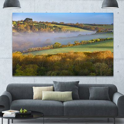 """DesignArt 'Cornwall South West England' Photographic Print on Wrapped Canvas Size: 40"""" H x 60"""" W x 1.5"""" D"""