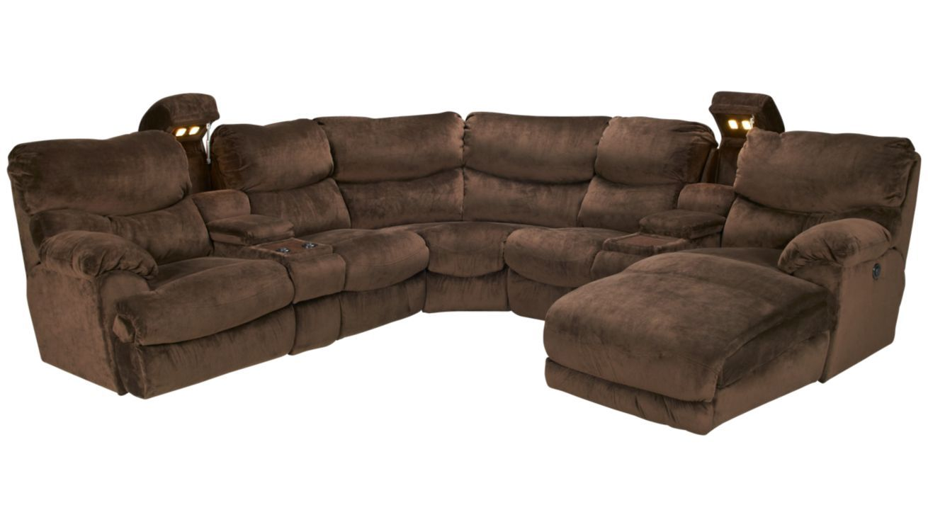 Giant comfy sectional with recliners and hidden cup holders dreamcouch