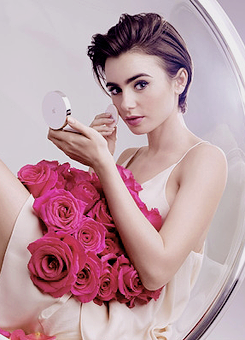 Lily Collins for Lancome cushion CC Cream
