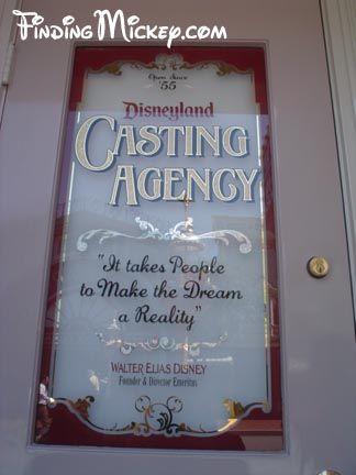 Main Street - Casting Agency Door   Disneyland Hidden Mickeys