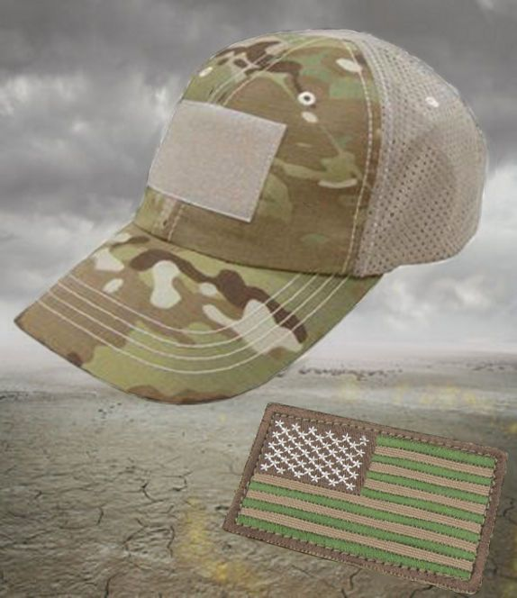 Multicam Trucker Cap with Polyester Mesh Backing + Patch  5765747dbefc
