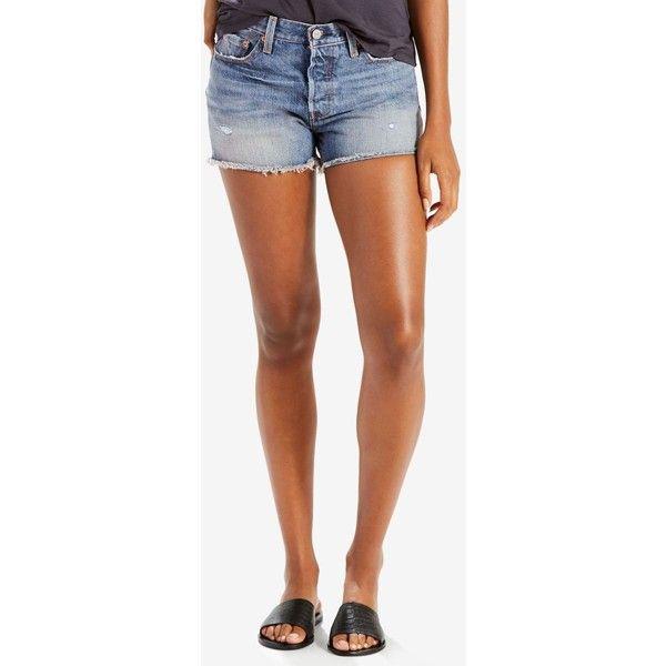 Levi s 501 Cutoff Denim Shorts ( 50) ❤ liked on Polyvore featuring shorts 9c2f4599b0977