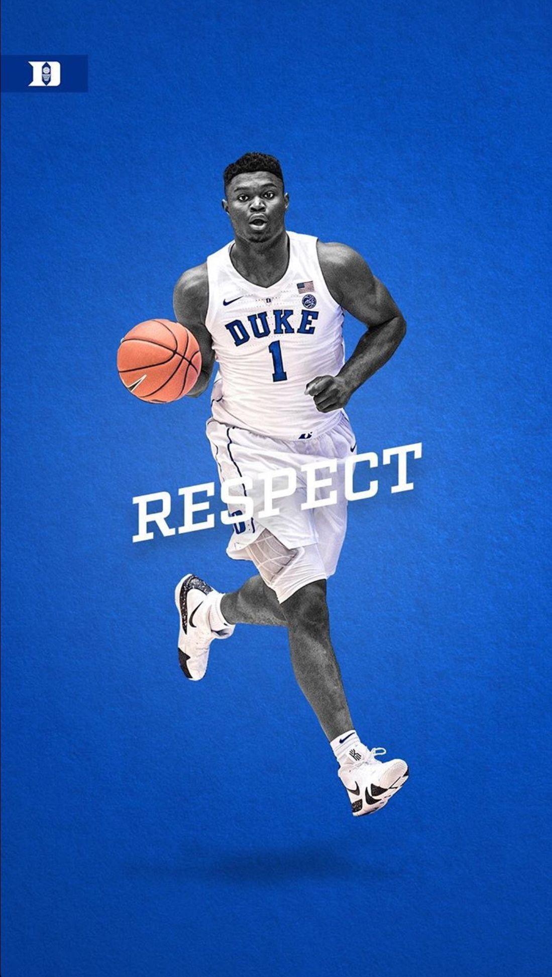 Zion Williamson Wallpaper Zion Williamson Wallpaper In 2020 Duke Blue Devils Basketball Duke Basketball Players Basketball Wallpaper