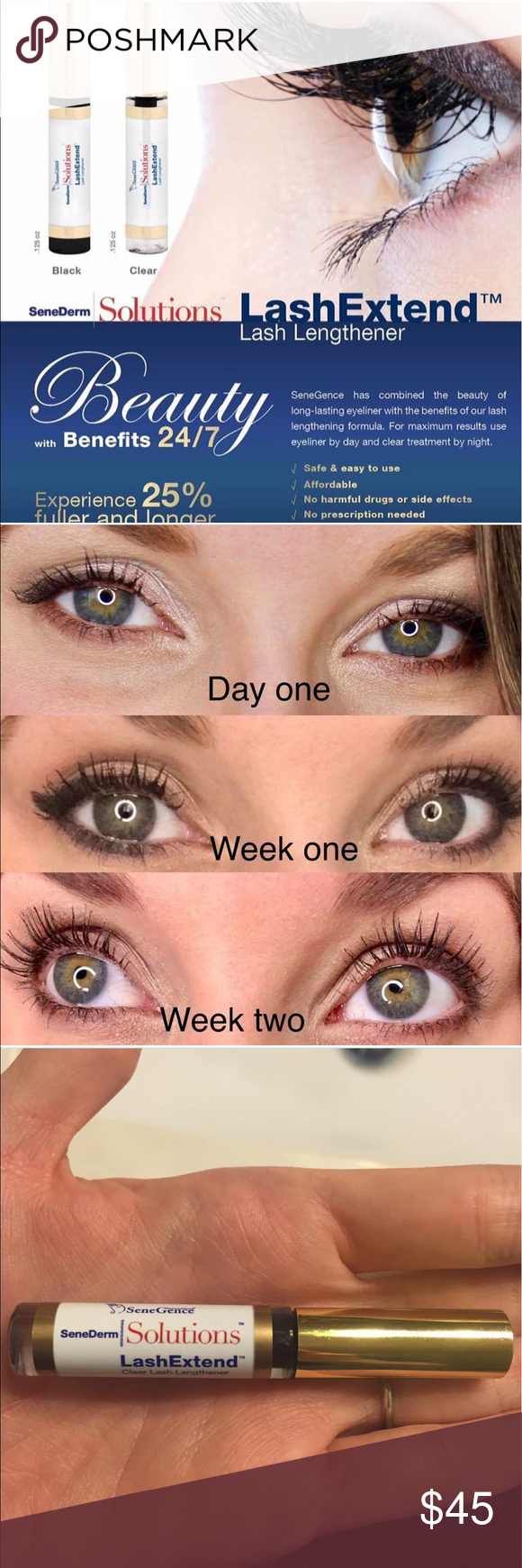 Senegence lash extend in black or clear Sell makeup