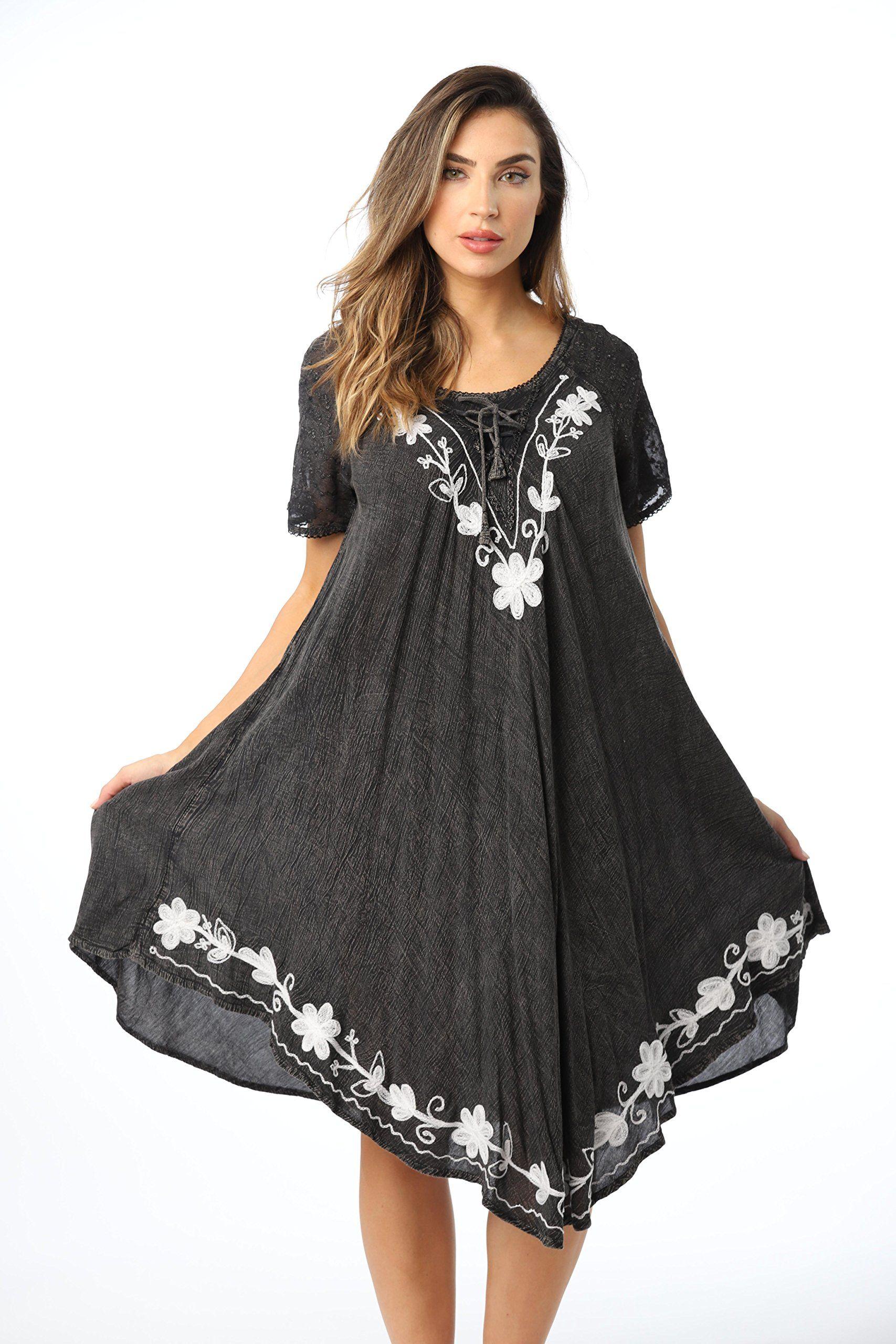 Riviera Sun Riviera Sun Dresses For Women Walmart Com Womens Dresses Embroidered Summer Dress Summer Dresses For Women [ 2560 x 1707 Pixel ]