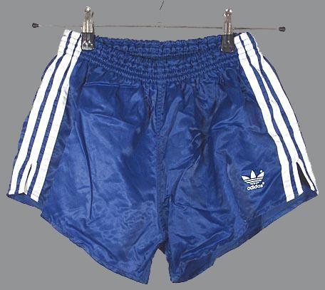 Retro Adidas shorts -- Track and field, grade 7.  Booya!