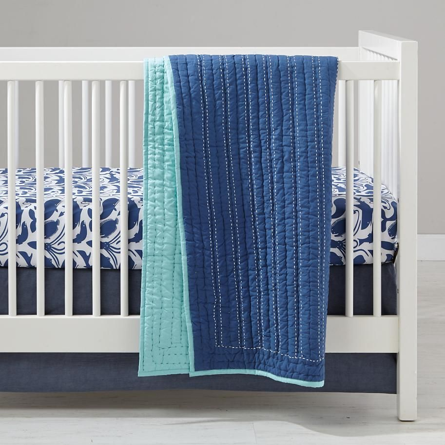 Deep Blue Baby Bedding The Land of Nod (With images