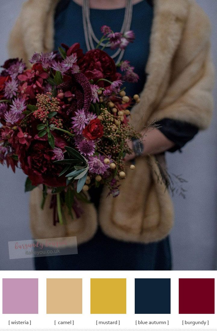 8 Burgundy Wedding Bouquet Ideas for Autumn Weddings