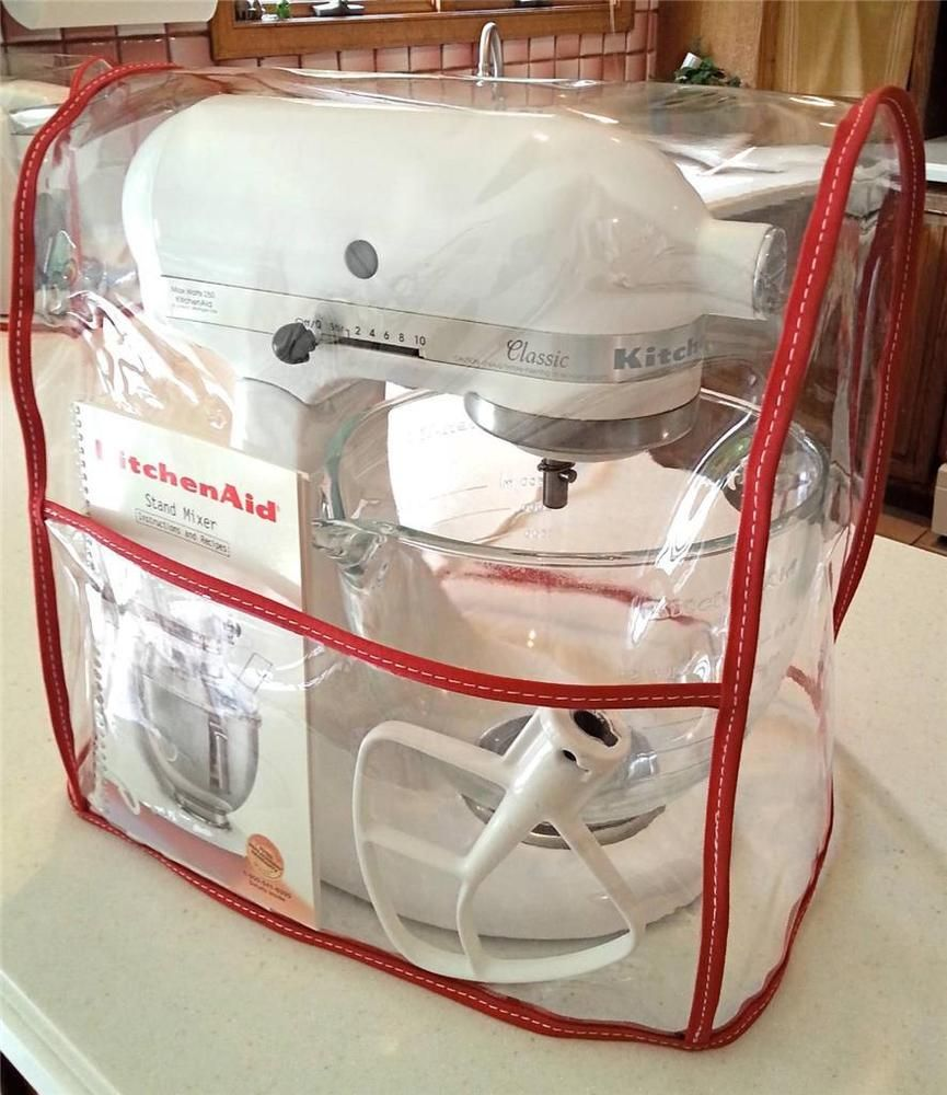CLEAR MIXER COVER with pocket fits KitchenAid Tilt-Head - RED - 4.5 on kitchenaid food processor tv offer, kitchenaid food processor recipe book, kitchenaid food processor bowl for work, kitchenaid food processor attachment, kitchenaid food processor parts, kitchenaid food processor replacement bowl,