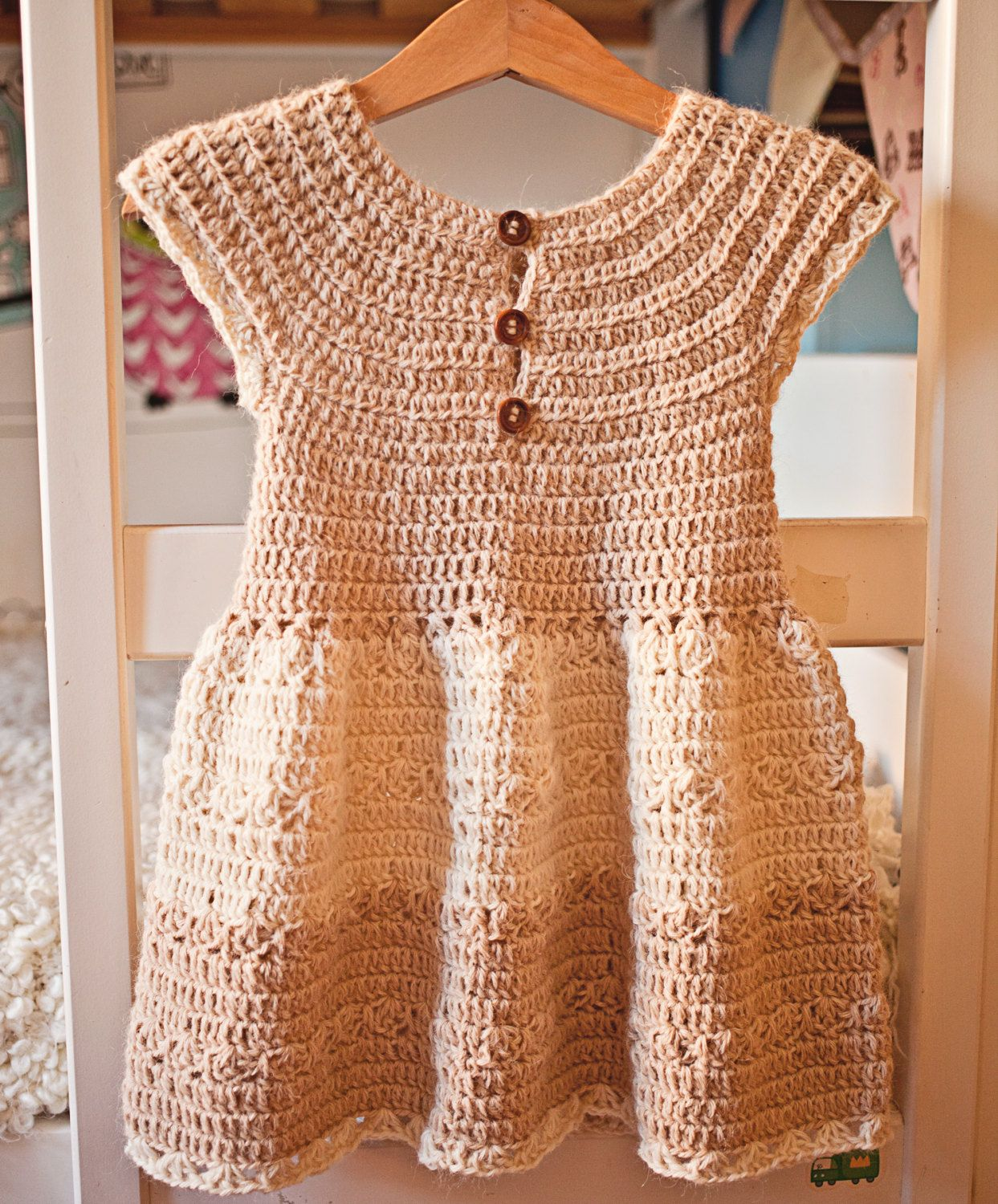 Crochet dress PATTERN Darling Dress baby por monpetitviolon | Πλεκτά ...