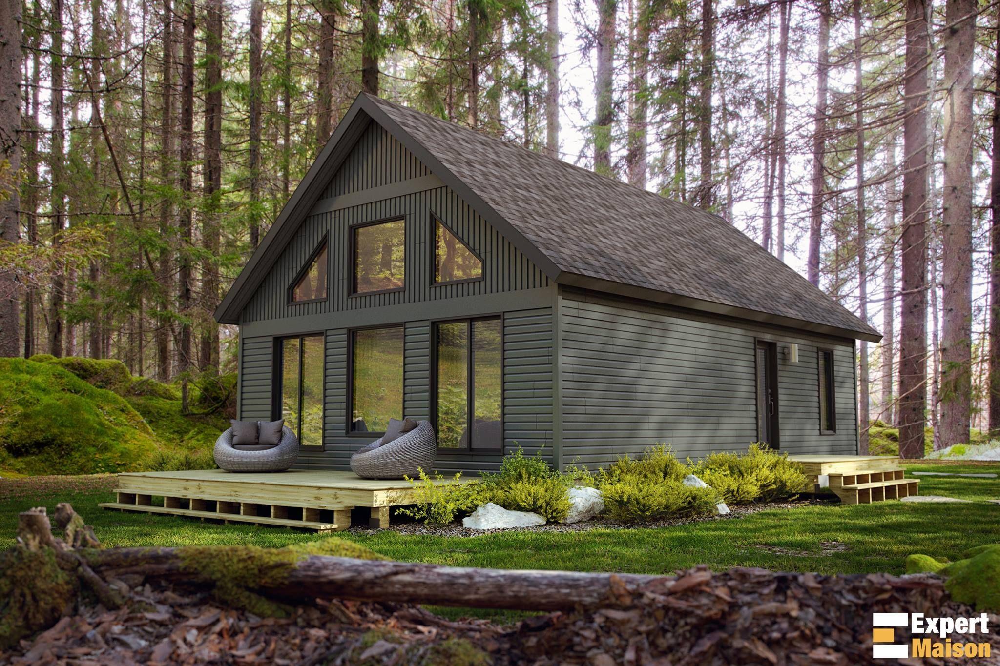 Modèle 820 - Maison d'inspiration chalet 24x36 modifiable avec mezzanine à prix très compétitif ...
