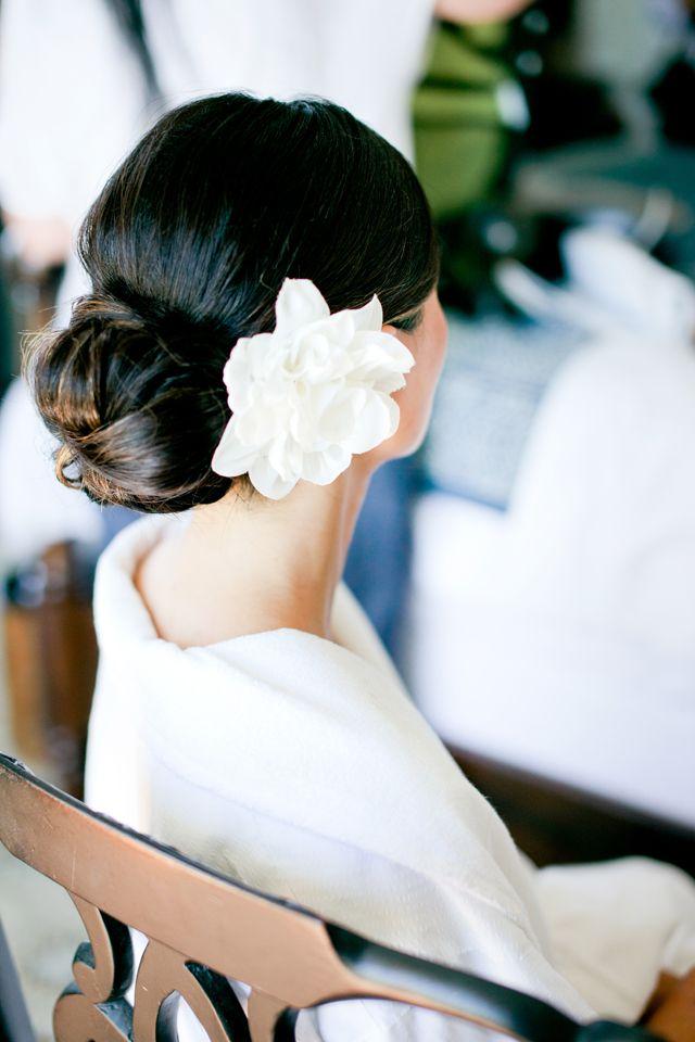 Flores y peinado