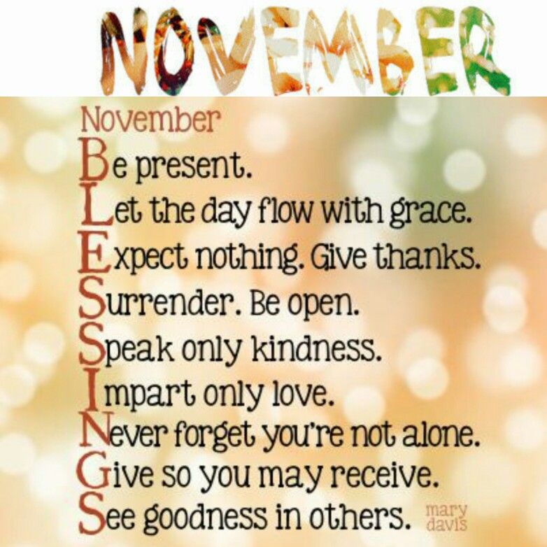 Dear November ✉ Please Be Good To Me! This Is My Favorite Time Of The
