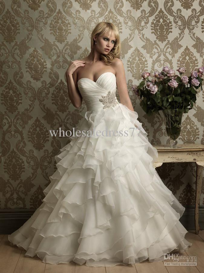 Wholesale - Custom-made chiffon sweetheart paillette beaded In stock cheap fall Bridal Wedding Dress 2011, Free shipping, $137.34-167.90/Piece, 1 piece/Lot | DHgate.com