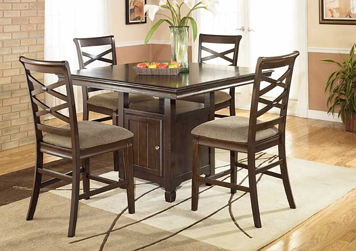 Furniture U0026 More   Dover, Wilmington, Rehoboth Beach, DE Hayley Square Pub  Dining Set W/ 4 Stools
