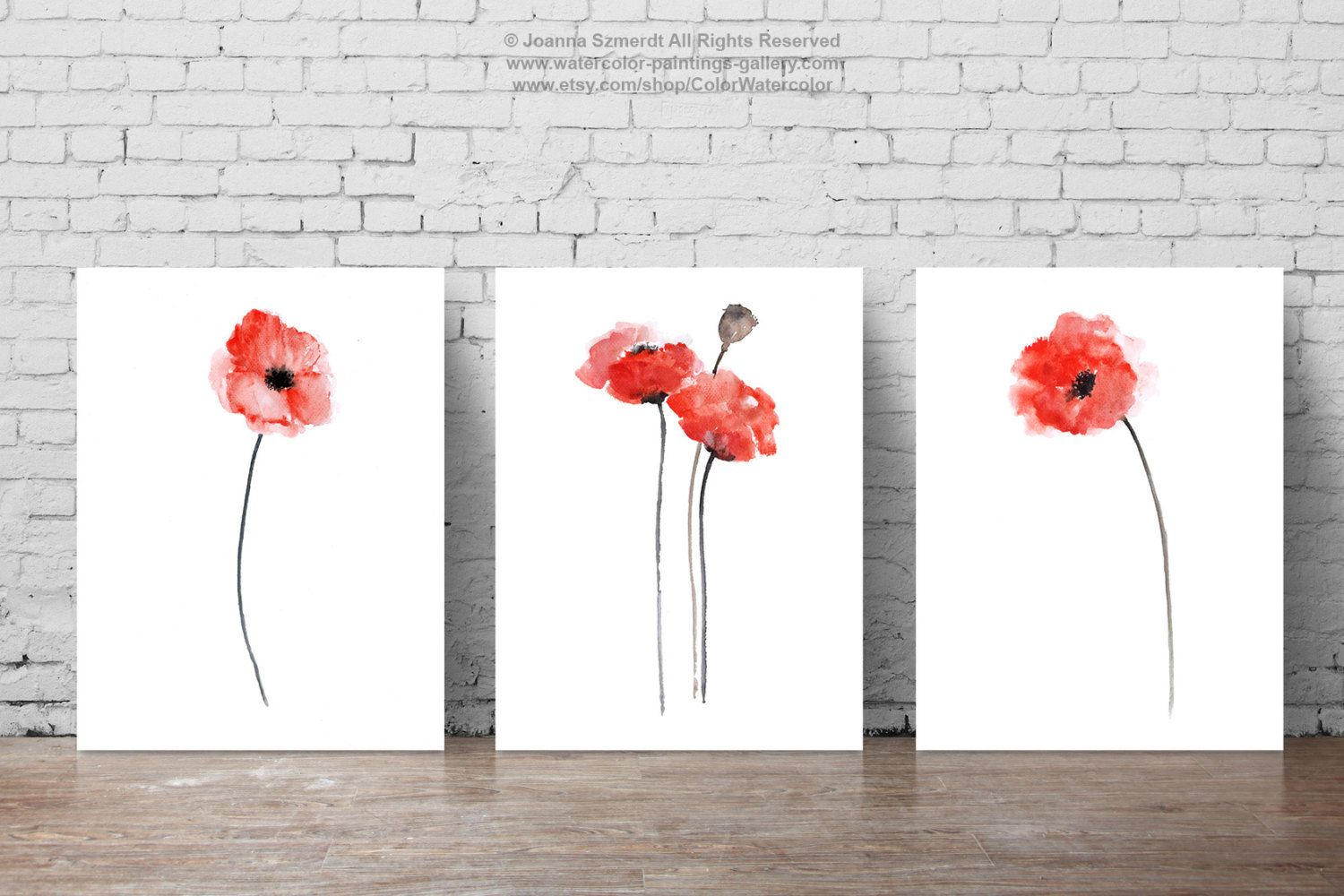 Red Poppies Set Of 3 Abstract Flower Painting Home Decorators Catalog Best Ideas of Home Decor and Design [homedecoratorscatalog.us]