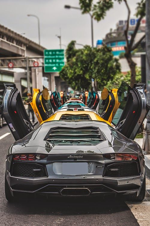 Lamborghini Open Door Policy Black Things Pinterest