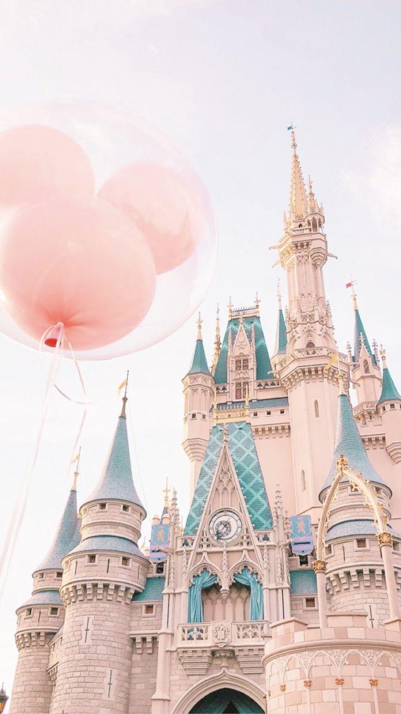 White Landmark Amusement Park Walt Disney World Spire Pink Disney Phone Wallpaper Disney Wallpaper Wallpaper Iphone Disney