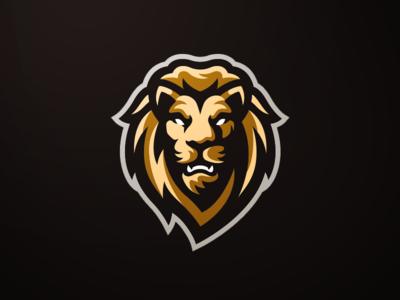 Grim Mascot Logo Lion Logo Lion Head Logo Logo Design