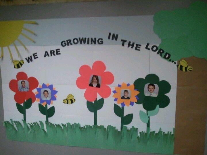 Door And Bulletin Board Ideas Sunday School Decorations Boards Spring Preschool