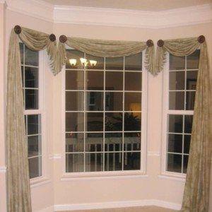 Bay Window Asymmetrical Window Scarf Ideas Pretty Window Scarf Ideas In Home Design And Window Treatments Living Room Bay Window Treatments Bay Window Design
