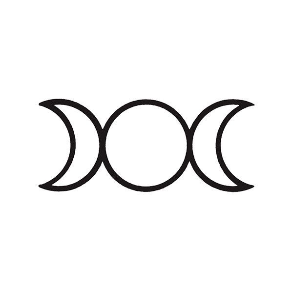 The Triple Moon Symbol Is A Popular Pagan And Wiccan Symbol Used To