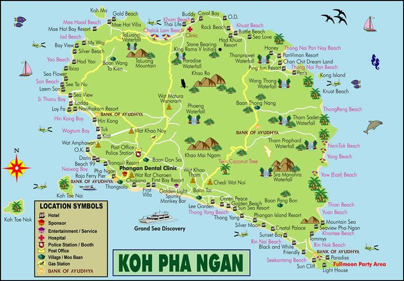 Au large de Koh Samui et au sud de Koh Tao lle de Koh Pha Ngan