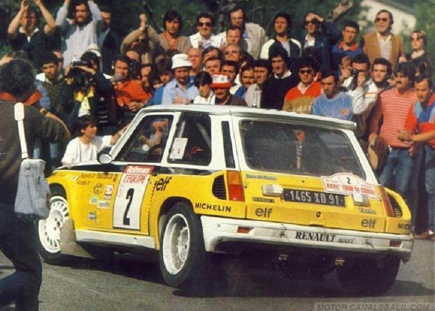 jean ragnotti jean marc andri 27 tour de corse 1983 renault 5 turbo tdc abandon al chocar. Black Bedroom Furniture Sets. Home Design Ideas