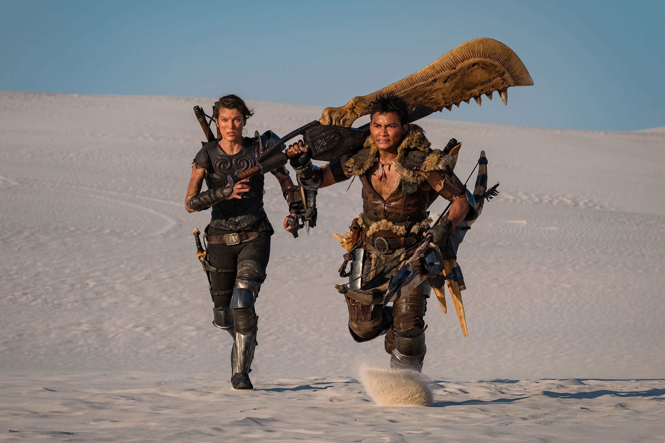 Milla Jovovich And A Giant Jawblade Appear In First Monster Hunter Movie Photo Monster Hunter Movie Monster Hunter Milla Jovovich