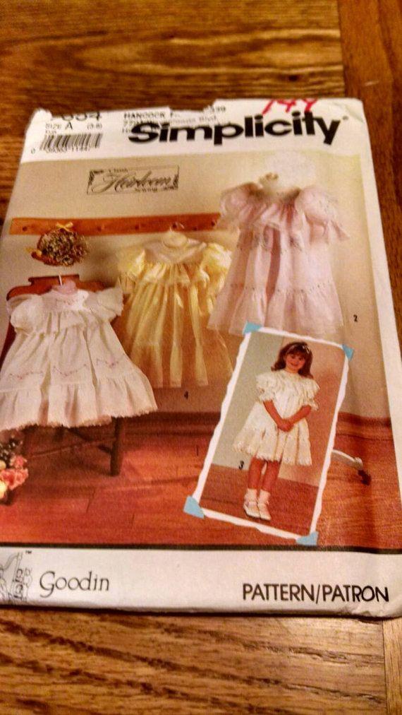 Vintage simplicity pattern 7354 Oliver Goodin design girls dress ...