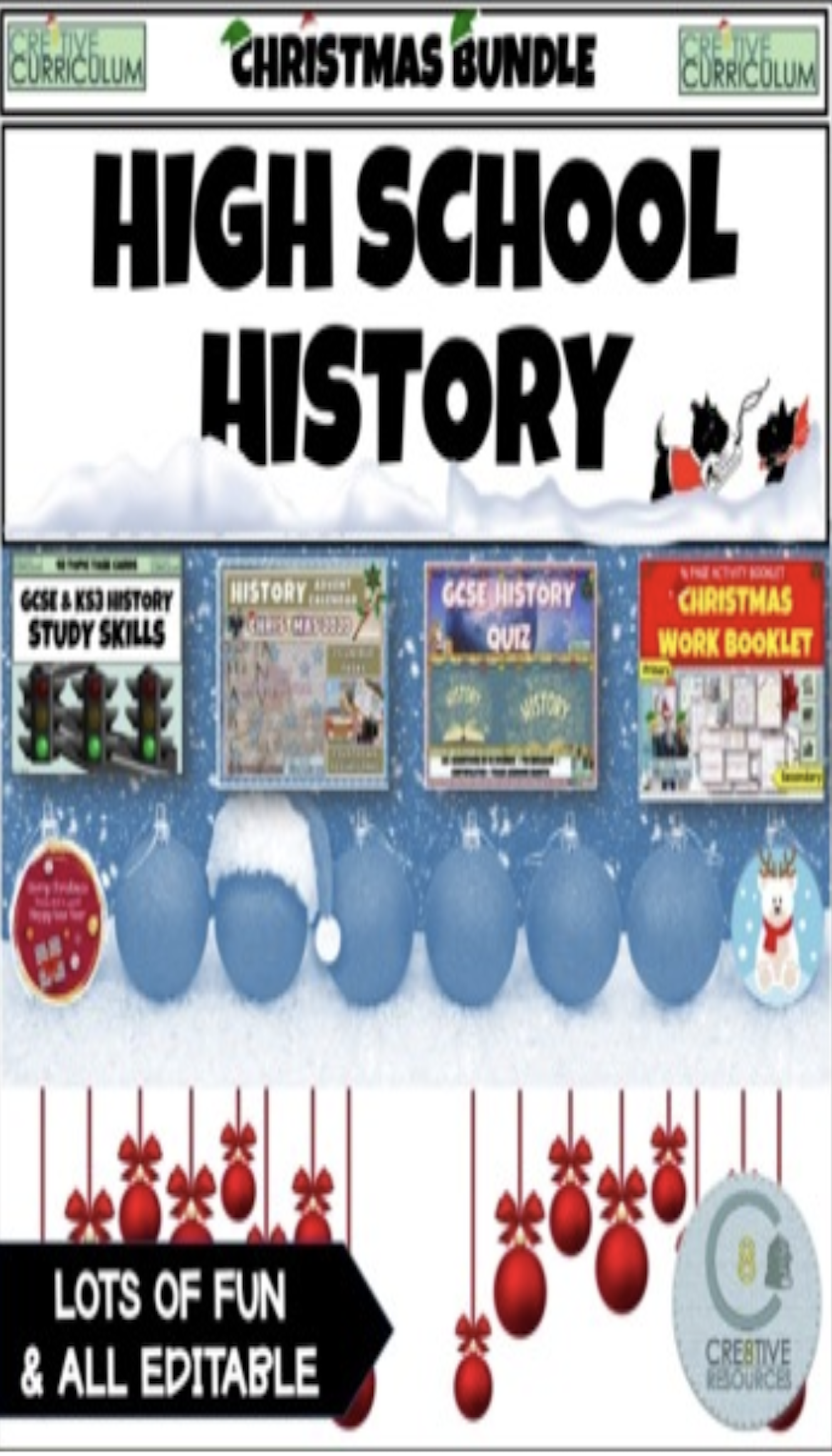 History Christmas Activity Bundle