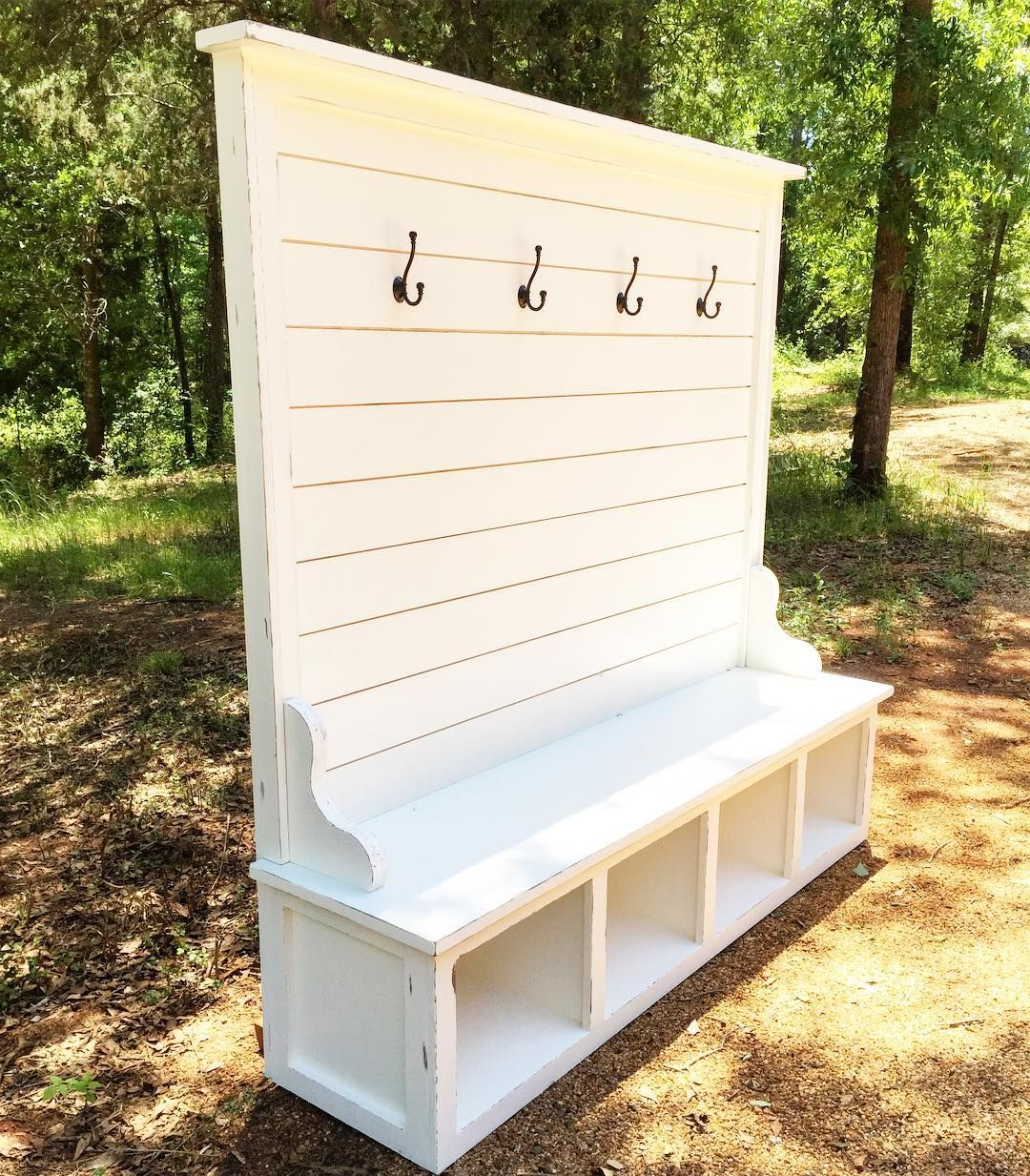 White Solid Wood Bench With Storage Interior Amp Exterior: Home Decor, Bench Designs, Home Remodeling