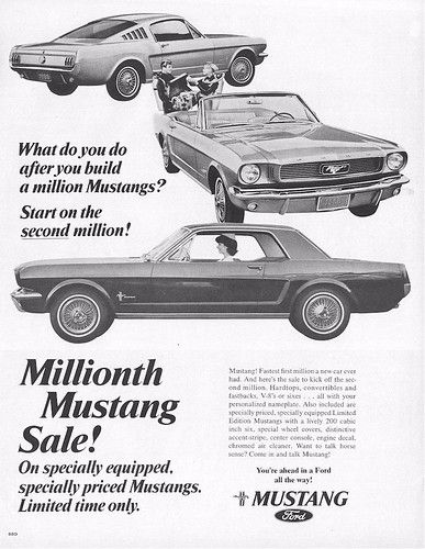 1965 Ford Mustang – Special 1 Millionth Mustang Sale Ad – USA