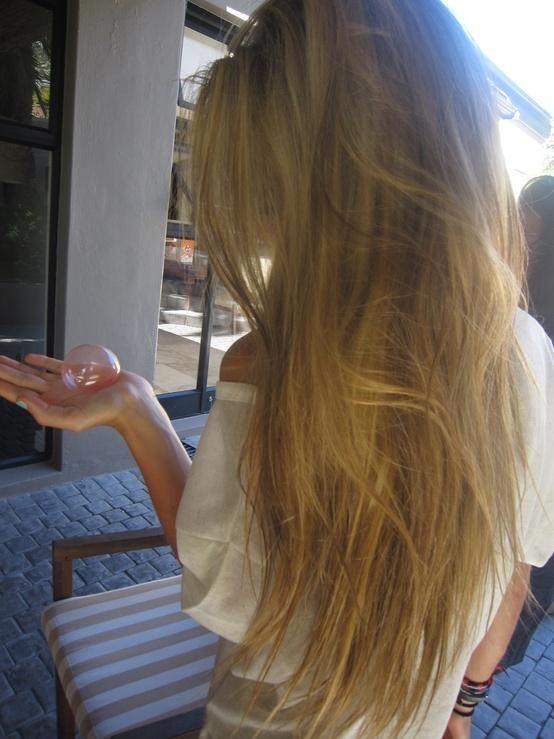 long blonde messy hair