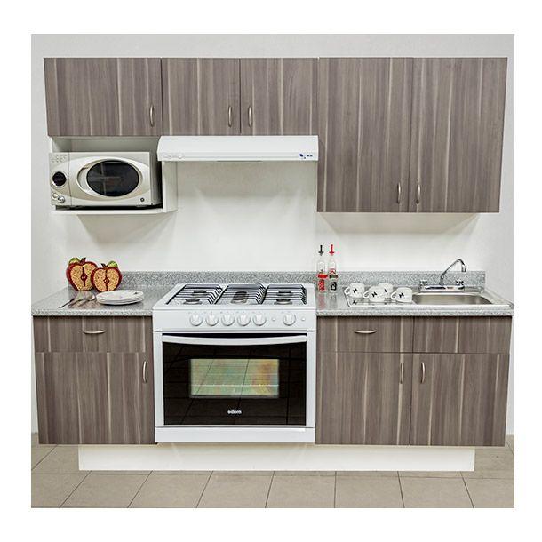Cocina sevilla 2.40 m izq linosa ceniza | Muebles blancos, Ceniza y ...
