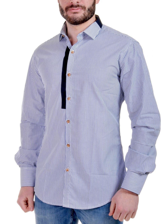 STEFAN Ανδρικό slim fit Italian Design πουκάμισο  a7c4e614a6a