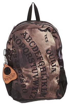 Ouija board backpack -Now Im not about these things. I would never use the  actual board but this is a pretty cool backpack. 8b4a1e4d2f2b5