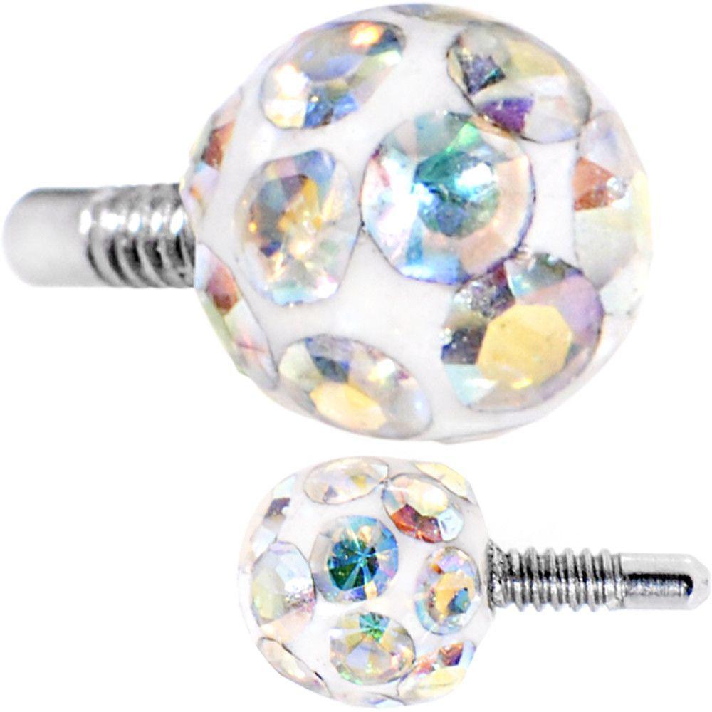 3mm Aurora Ferido Externally Threaded White Replacement Ball