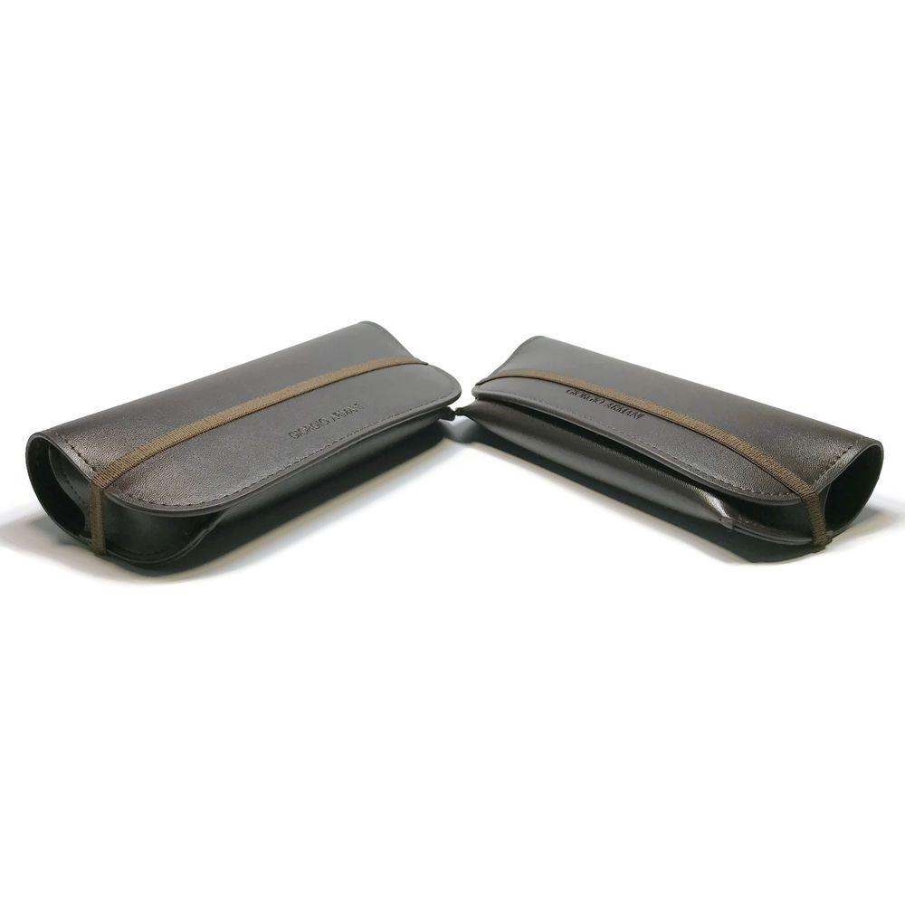 Armani dark brown elastic closure eyeglasses