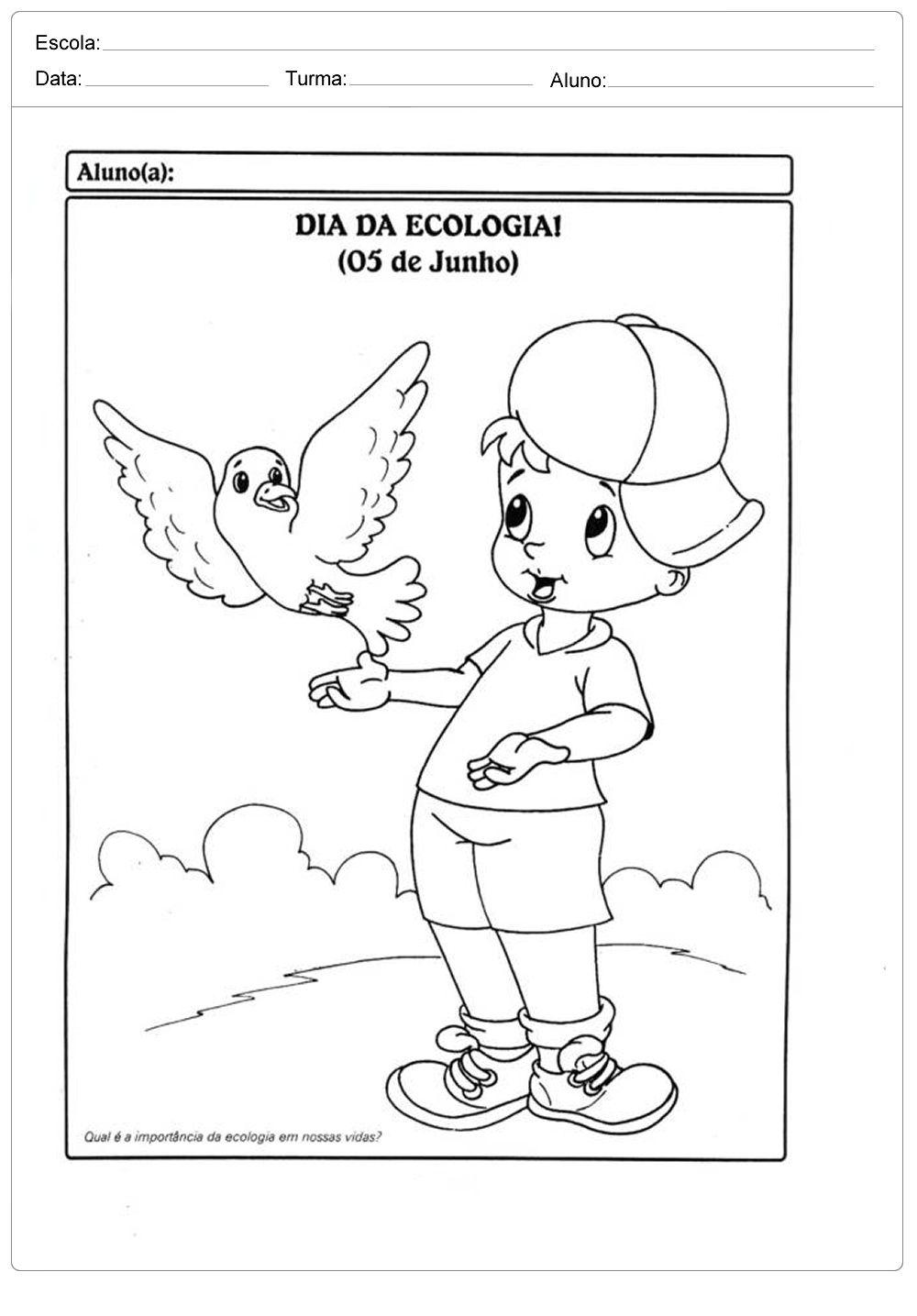 Atividades Sobre Meio Ambiente Para Educacao Infantil Dia Da
