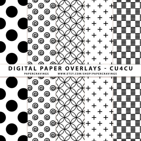 Digital Paper Overlay - Paper Template - Polka Dot Swirl Stripe