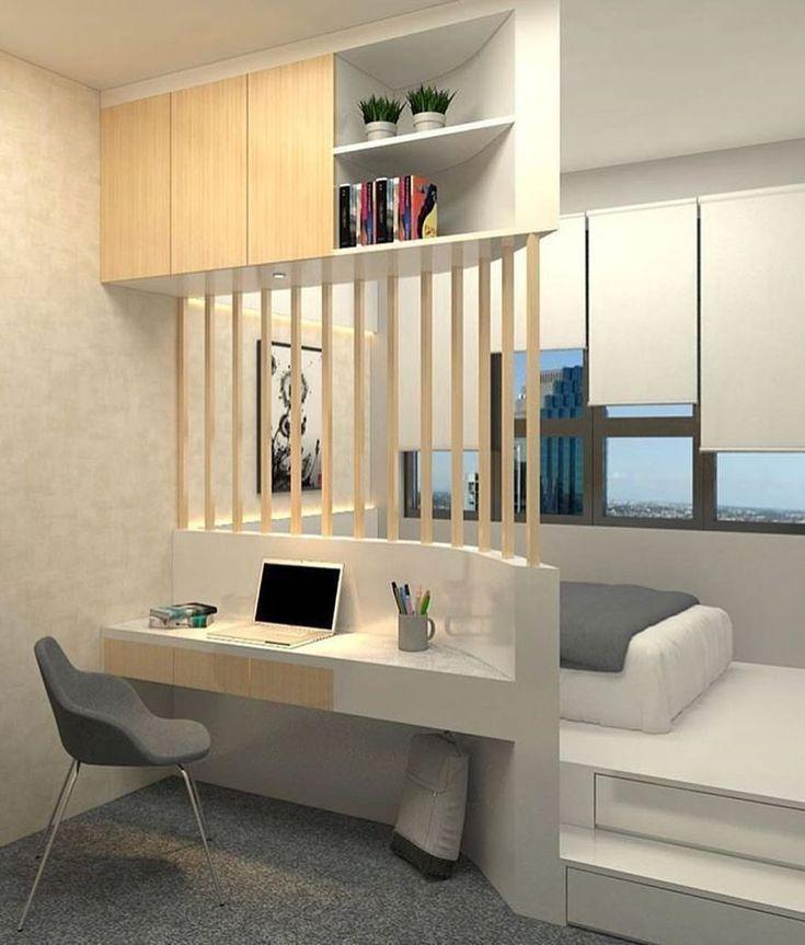 30 Awesome Small Apartment Bedroom Design Ideas To Try Vaerelse Dekoration Sovevaerelsesdesign Sovevaerelsesindretning